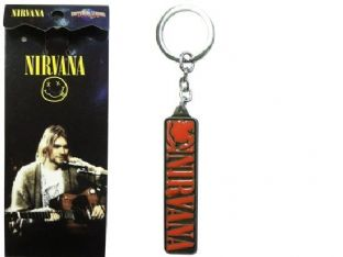 Nirvana 'Smiley' Metal Keyring